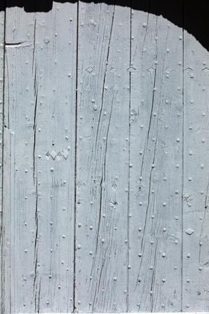 Old wooden blue door  in Gordes. Provence, France Standard-Bild