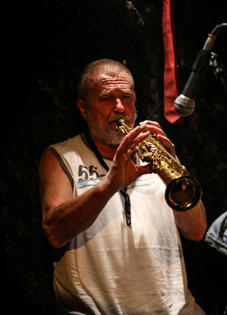 Cracow, Poland - June 25, 2018: Laboratorium performs live at the Summer Jazz Festival in Krakow, is the 23rd edition of the festival, which will host over 150 concerts and will perform over 500 jazz musicians