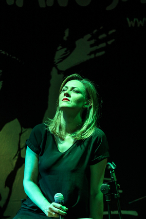 Cracow, Poland - June 26, 2018: Ida Zalewska Trio performs live at the Summer Jazz Festival in Krakow, is the 23rd edition of the festival, which will host over 150 concerts and will perform over 500 jazz musicians