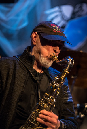 Cracow, Poland - July 3, 2018: The nestor of Polish jazz Jan Ptaszyn Wroblewski live at the Summer Jazz Festival in Krakow, is the 23rd edition of the festival, which will host over 150 concerts