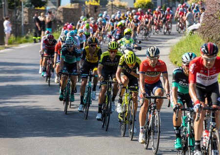 Krakow, Poland - August 4, 2018: the first stage in the 75 Tour de Pologne UCI – World Tour, the 134 km Krakow-Krakow route. The biggest cycling event in Eastern Europe.