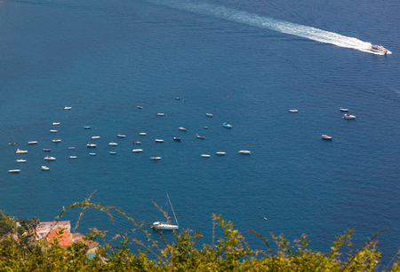 View over Gulf of Salerno from Ravello, Campania, Italy Stock Photo