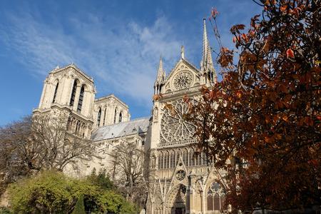 Paris, France - November 2017: Notre Dame de Paris Cathedral, most beautiful Cathedral in Parisl. France.