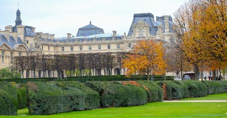 Paris, France - November 2017: Autumn in the Jardin des Tuileries, Paris, France Editorial