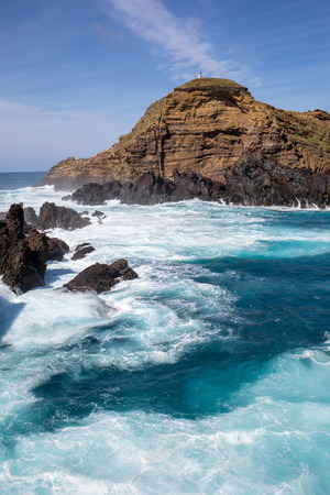 Coastline in Porto Moniz on Madeira Island. Portugal