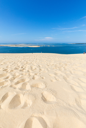 View from the Dune of Pilat, the tallest sand dune in Europe. La Teste-de-Buch, Arcachon Bay, Aquitaine, France Stock fotó