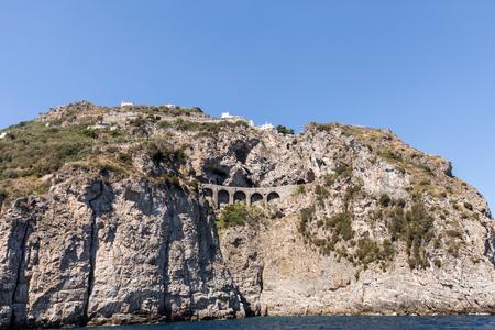 Scenic route from Sorrento to Salerno along the Amalfi Coast. Campania, Italy