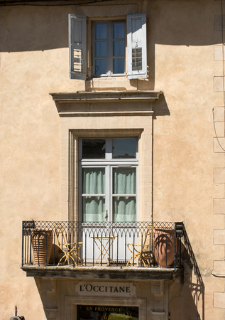 GORDES, FRANCE - JUNE 25, 2017:  Typical old  house in Gordes village, Vaucluse, Provence, France