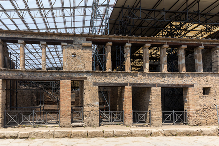 The famous archaeological site of Pompeii. Italy Banco de Imagens