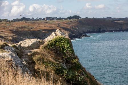 Pointe du Grouin in Cancale. Emerald Coast, Brittany, France , 版權商用圖片
