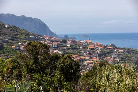 View of the Northern coastline of Madeira, Portugal, Фото со стока