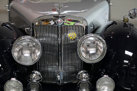 Cracow; Poland - May 18; 2019: Triumph 2000 Roadster at Moto Show in Krakow. Produced in 1949 y.