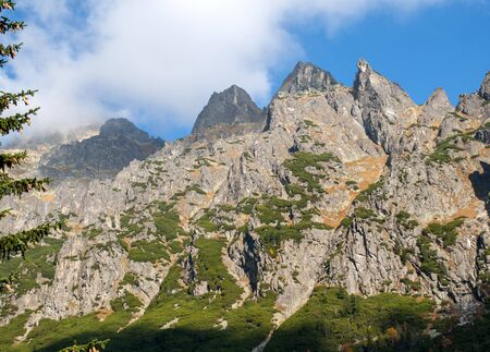 Great Cold Valley in Vysoke Tatry (High Tatras), Slovakia. The Great Cold Valley is 7 km long valley, very attractive for tourists 写真素材
