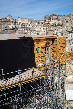 Matera, Italy - Sept 15, 2019: Bond apartment from the movie