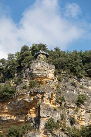 Belvedere viewpoint in  the Jardins de Marqueyssac in the Dordogne region of France