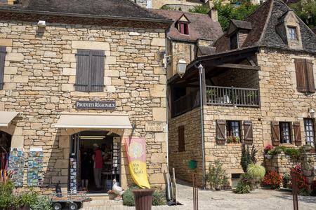 La Roque-Gageac, Dordogne, France - September 7, 2018: La Roque-Gageac scenic village on the Dordogne river, France