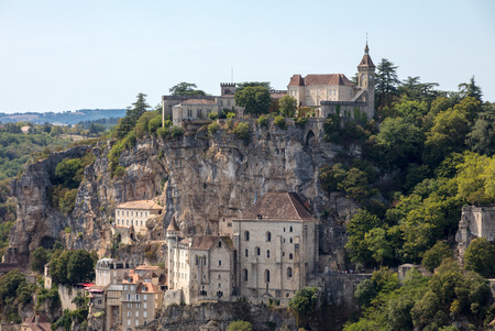 Pilgrimage town of Rocamadour, Episcopal city and sanctuary of the Blessed Virgin Mary, Lot, Midi-Pyrenees, France Editöryel