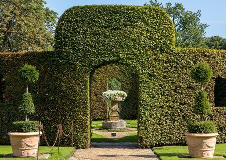 The picturesque Jardins du Manoir d Eyrignac in Dordogne. France Stock Photo