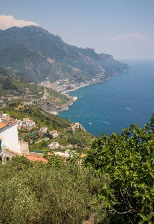 View over Gulf of Salerno from Ravello, Campania, Italy 스톡 콘텐츠