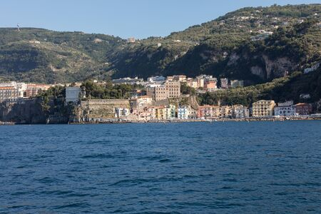 Town of Sorrento as seen from the water, Campania, Italy
