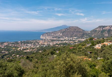 Sorrento. Italy. Aerial view of Sorrento and the Bay of Naples.