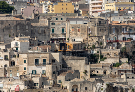 Matera, Italy - Sept 19, 2019: Bond apartment from the movie