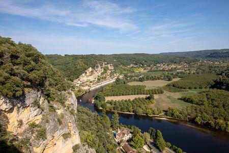 La Roque-Gageac scenic village on the Dordogne river, France Stock Photo