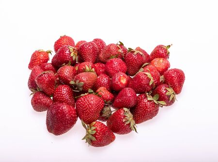 fresh ripe strawberries isolated on white background Reklamní fotografie