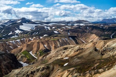 Volcanic mountains of Landmannalaugar in Fjallabak Nature Reserve. Iceland Stock Photo - 140545846