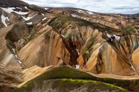 Volcanic mountains of Landmannalaugar in Fjallabak Nature Reserve. Iceland