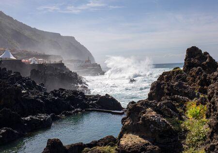 Coastline in Porto Moniz on Madeira Island. Portugal