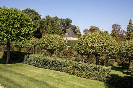 The picturesque Jardins du Manoir d Eyrignac in Dordogne. France