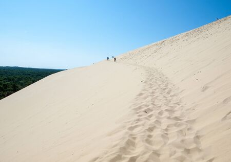 The Dune of Pilat, the tallest sand dune in Europe. La Teste-de-Buch, Arcachon Bay, Aquitaine, France