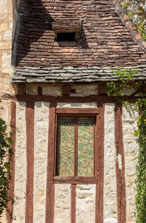 Old House in pilgrimage town of Rocamadour, Episcopal city and sanctuary of the Blessed Virgin Mary, Lot, Midi-Pyrenees, France