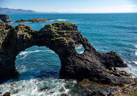 Gatklettur - Arch Rock - cliff with natural arch near Arnarstapi, Snaefellsnes, Iceland