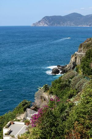 beautiful coastline in Cinque Terre, Liguria, Italy Banque d'images