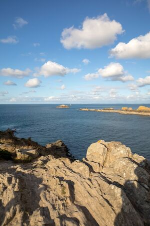Pointe du Grouin in Cancale. Emerald Coast, Brittany, France ,
