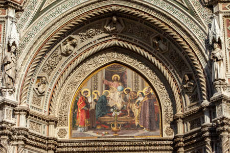 the facade of the Cathedral of Santa Maria del Fiore in Florence. italy Reklamní fotografie