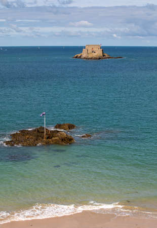 View Of Fort Du Petit Be in St Malo. Brittany, France