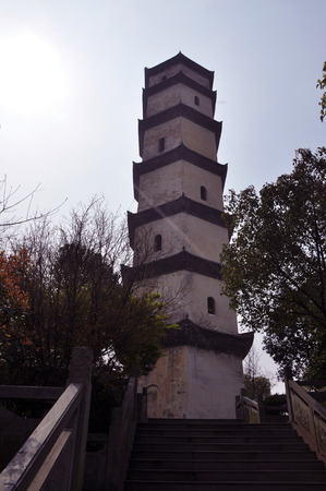 temple tower: Chinese ancient architecture temple tower