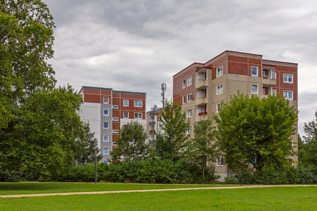 Apartments for rent in Finsterwalde Stock Photo