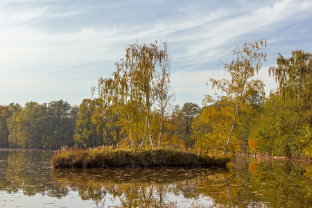 Water landscape in the autumn Stock Photo
