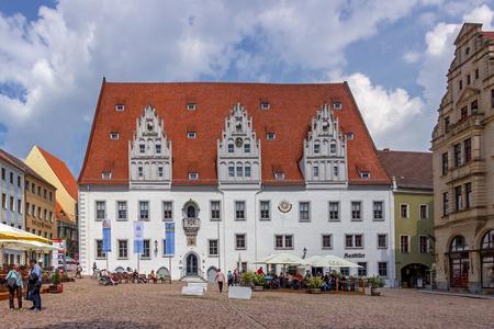 Market in Meissen Stock fotó - 101460015