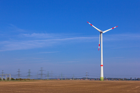 Big windmill with sky background Standard-Bild - 124881900