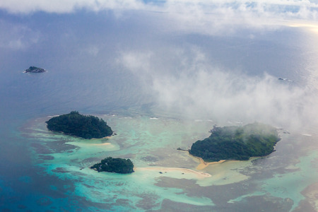 three islands seen from above