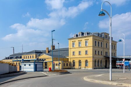 Riesa train station Stock Photo