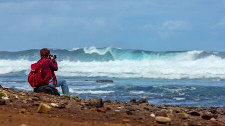 Surf on the sea