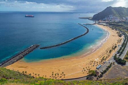 Golden beach in Tenerife Stock Photo