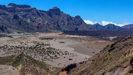 Lava field on tenerifa Stock Photo