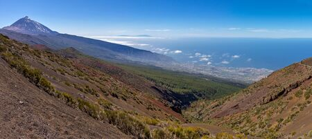 Volcanic landscape Tenerife Stock Photo